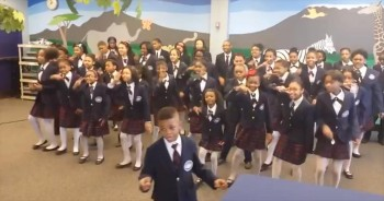 Elementary School Chorus Will Amaze You With their Adorable Song and Dance