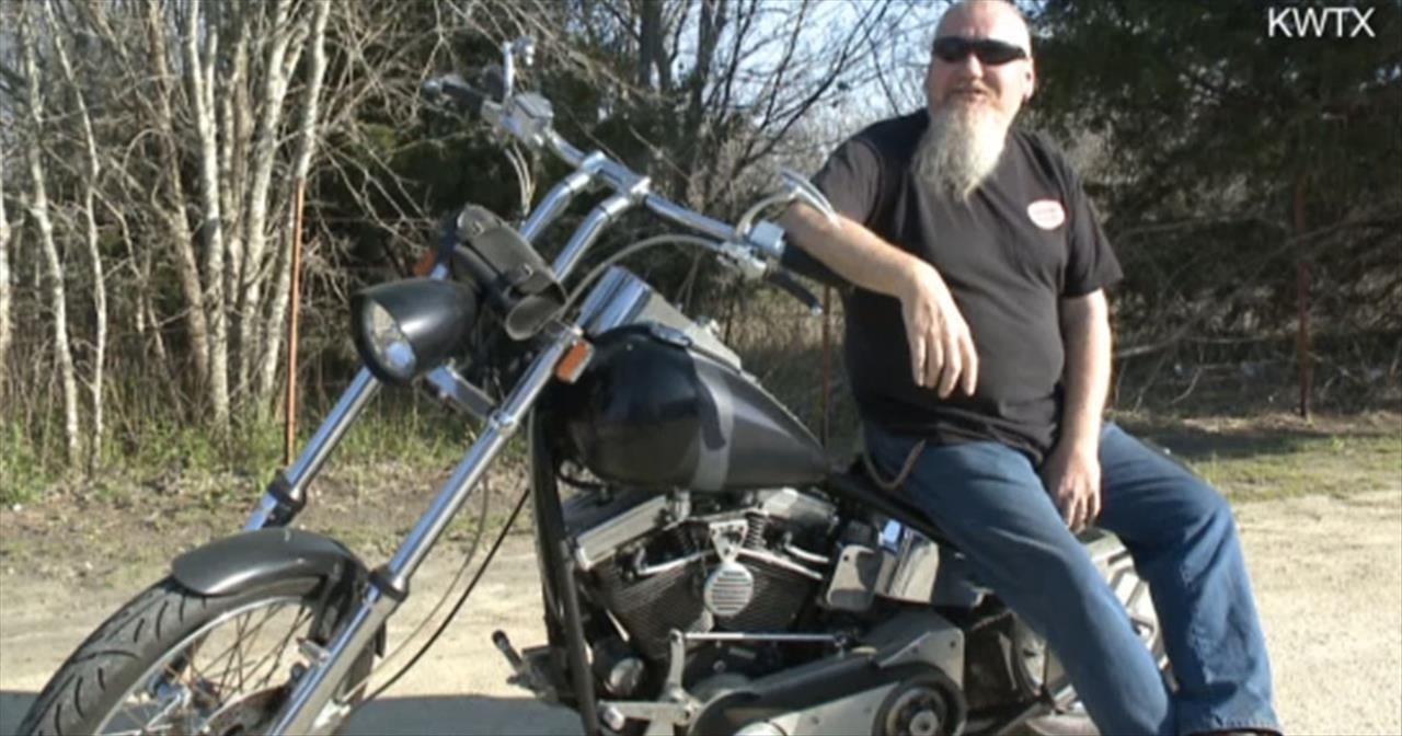 This Biker Has a Heart of Gold, But It's Not Entirely His
