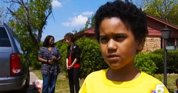 9-Year-Old Does The Most Selfless Thing To Stop Tragedy In His Neighborhood