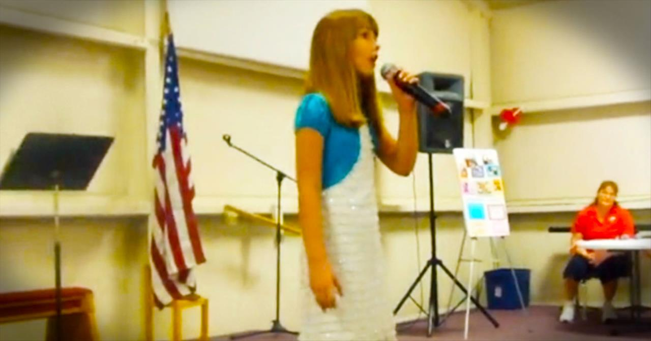 10-Year-Old Girl Sings Heartfelt 'Just A Closer Walk With Thee'