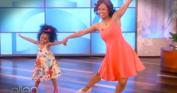 Mother-Daughter Duo Dances to 'Happy.' - So SWEET!
