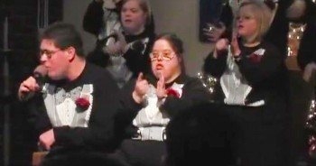 Talented Group of Adults With Special Needs Sing 'Let There Be Peace On Earth'