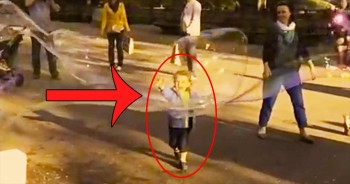 Toddler's Reaction To An EPIC Bubble Will Leave You Gri
