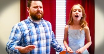 You'll Feel The LOVE With This Adorable Father-Daughter Duet