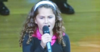 Amazing 9-Year-Old Belts Out The National Anthem. Just Wait Until The End!