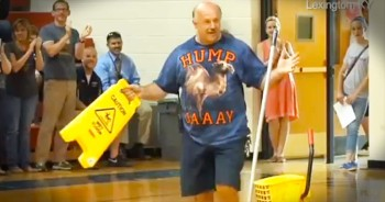 When This Janitor Went To Clean Up A Mess, He