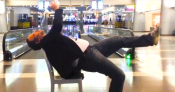 He Was Stranded In The Airport. But This Man Found The Silver Lining, And It's EPIC!