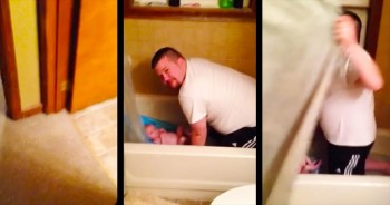 This Daddy Had No Idea His Wife Was Around The Corner. What She Caught Is ADORABLE!
