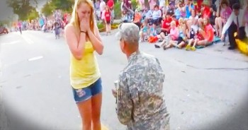 When This Soldier Stopped The Parade, His Girlfriend Had No Idea WHY – Just Wait!