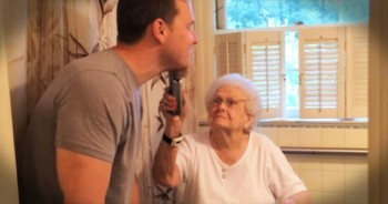 What He Did For His Grandma's 100th Birthday Is Unusual. But Her Reaction Is Priceless!