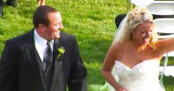 Sheldon and Tiffany's slow motion wedding recessional