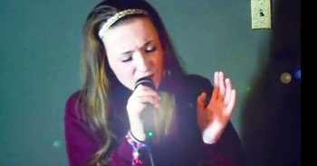 Young Girl Praises God With Powerful Christian Song