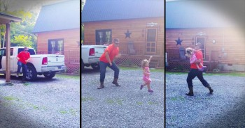 When This Dad Finishes A Tough Day, He Celebrates In The CUTEST Way!