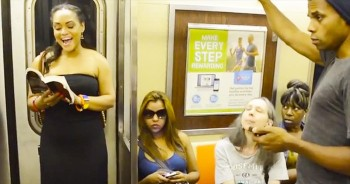 What Happens On This Subway Is Completely Awesome - These Passengers Had A ROARING Time!