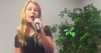 11 Year old sings 'In the Garden', Loretta Lynn style