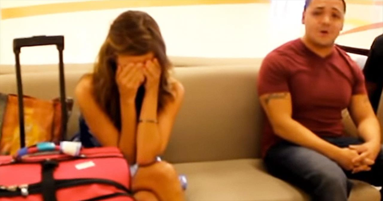 When This Airport Guy Started Singing, She Began Crying