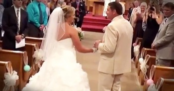 Father Sings 'God Handed You To Me' As He Walks Daughter Down The Aisle! I'm Sobbing!