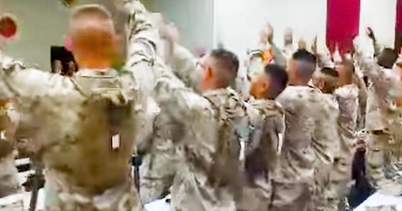 HOW These Military Men Are Worshipping The Lord Just Gave Me MEGA-CHILLS! God Bless Our Troops!