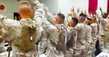 Group Of Marines Sing 'Days Of Elijah'