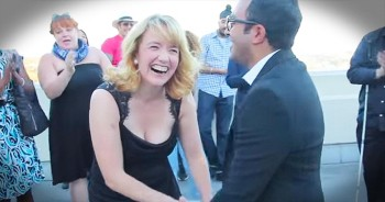 She Thought It Was Just Another Work Day. Until Her Boyfriend POPPED Out With A Huge Surprise!