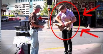 He Ripped Up This Homeless Man's Sign. And Now They're BOTH Smiling. WOW!