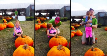 Try Not To Tear Up When This Little Girl Finds More Than Just Pumpkins At The Local Farm!