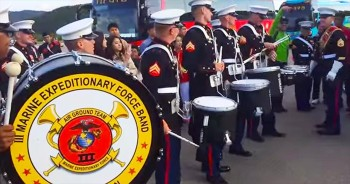 The U.S Marine Band Takes On The Republic Of Korea In This Awesome DRUM-OFF