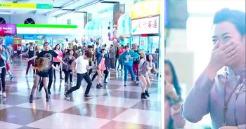 This Airport Almost Couldn't Hold All Of The Awesomeness From This Flash Mob! This Guy Just Raised The Bar!