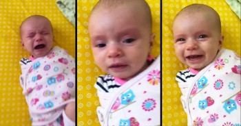 This Baby Woke Up On The Wrong Side Of The Bed. But After Daddy's Sweet Song, Her Mood CHANGED!