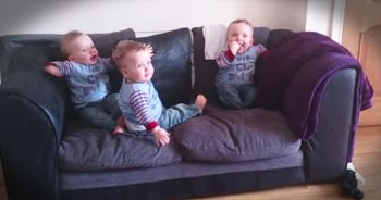 These Adorable Triplets Are About To Brighten Your Day! How Precious Is THIS!