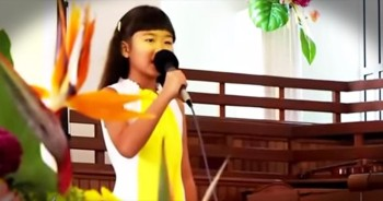 When This Little Angel Sings 'How God Loves Us,' You'll Be Filled With His Love! WOW!