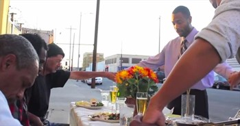 Kind Samaritans Bring Thanksgiving To Homeless Men