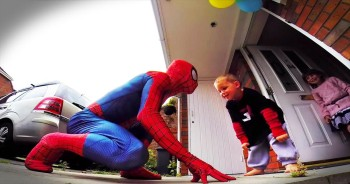 This Loving Father Dresses Up Like Spiderman For His Son's Last Birthday