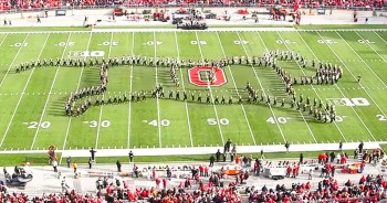 Marching Band Performs Amazing Synchronized Routine At Halftime Show