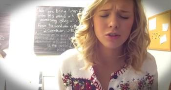 Young Girl Sings Beautiful Song In Memory Of Church Friend