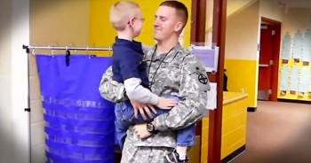 Military Man Has Emotional Reunion With His Little Brother