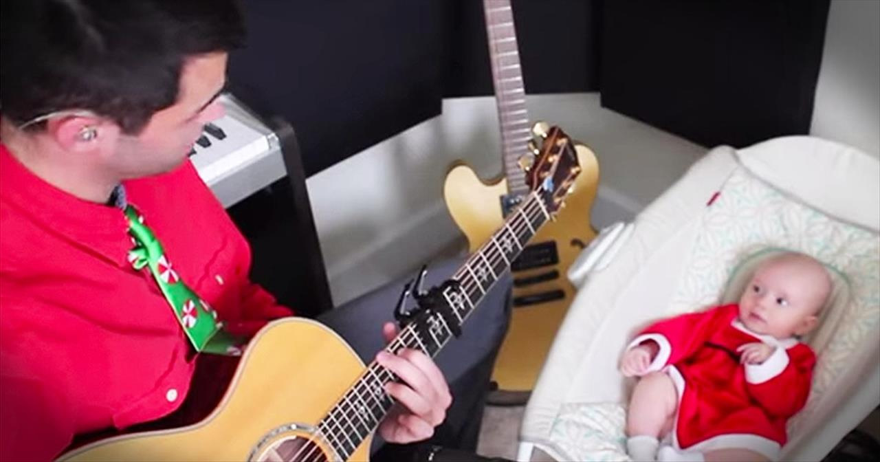 Dad Writes Precious Song For Baby's First Christmas
