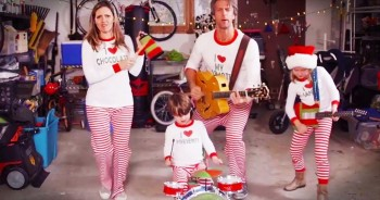 Hilarious Family Sends Out Video Christmas Card In Their Pajamas