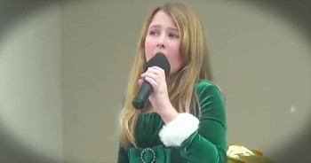 11 Year old sings 'Silent Night'