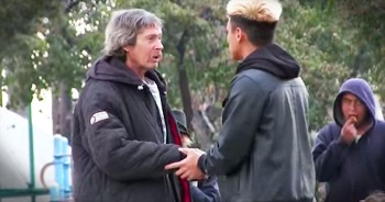 Homeless Man Uses Money To Buy Food For Fellow Homeless