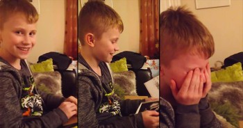 Sweet Boy Cries After Finding Out He's Going To Be A Big Brother