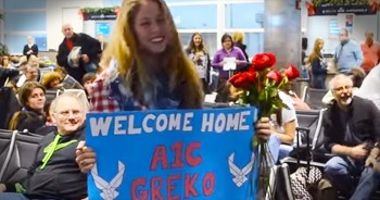 Military Man Organizes Surprise Proposal At Airport