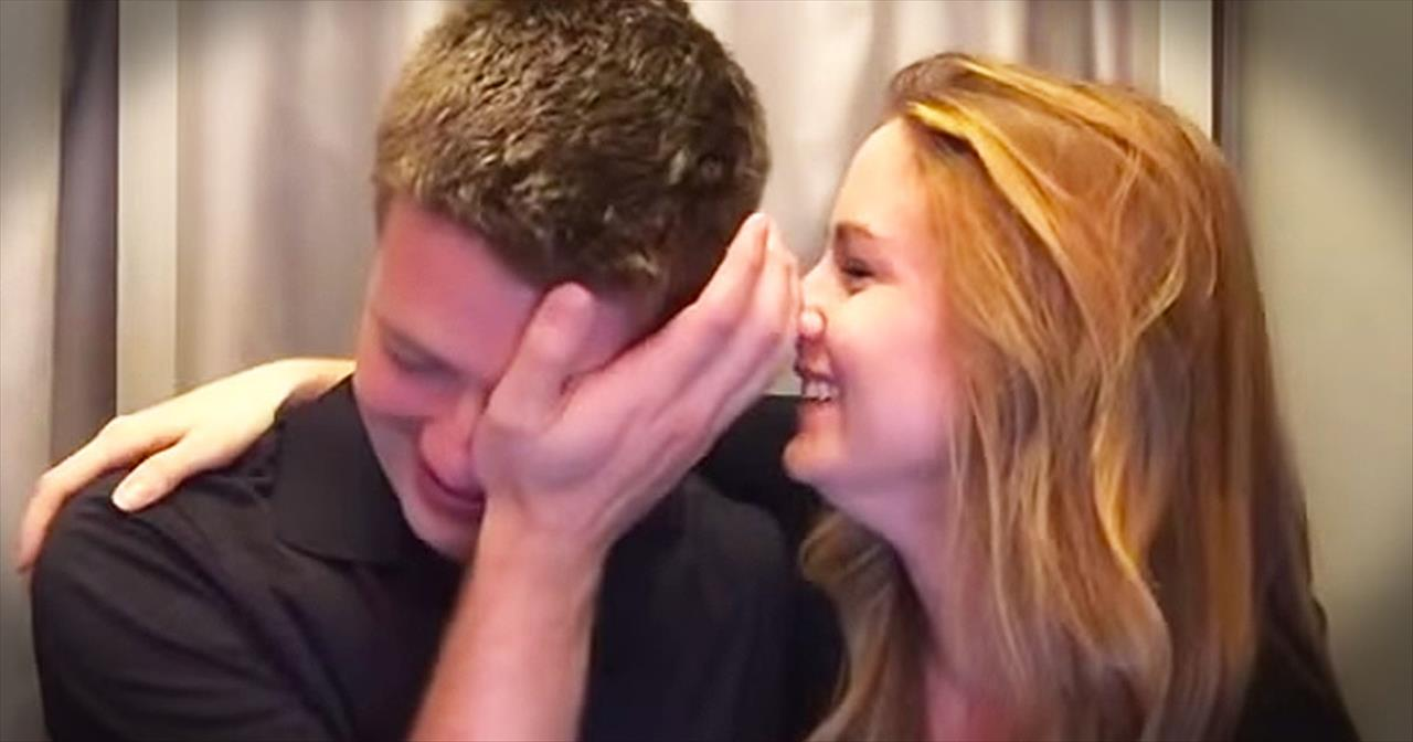 Wife Surprises Husband With Pregnancy Announ