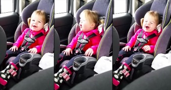 Adorable 2-Year-Old Lip Syncs In Car