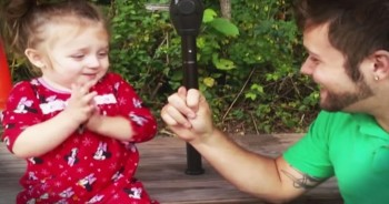 Cute Toddler Has The BEST Reaction To Daddy's 'Got Your Nose' Game