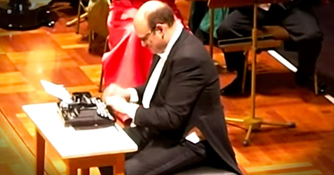 Talented Percussionist Performs Classical Tune With Typewriter