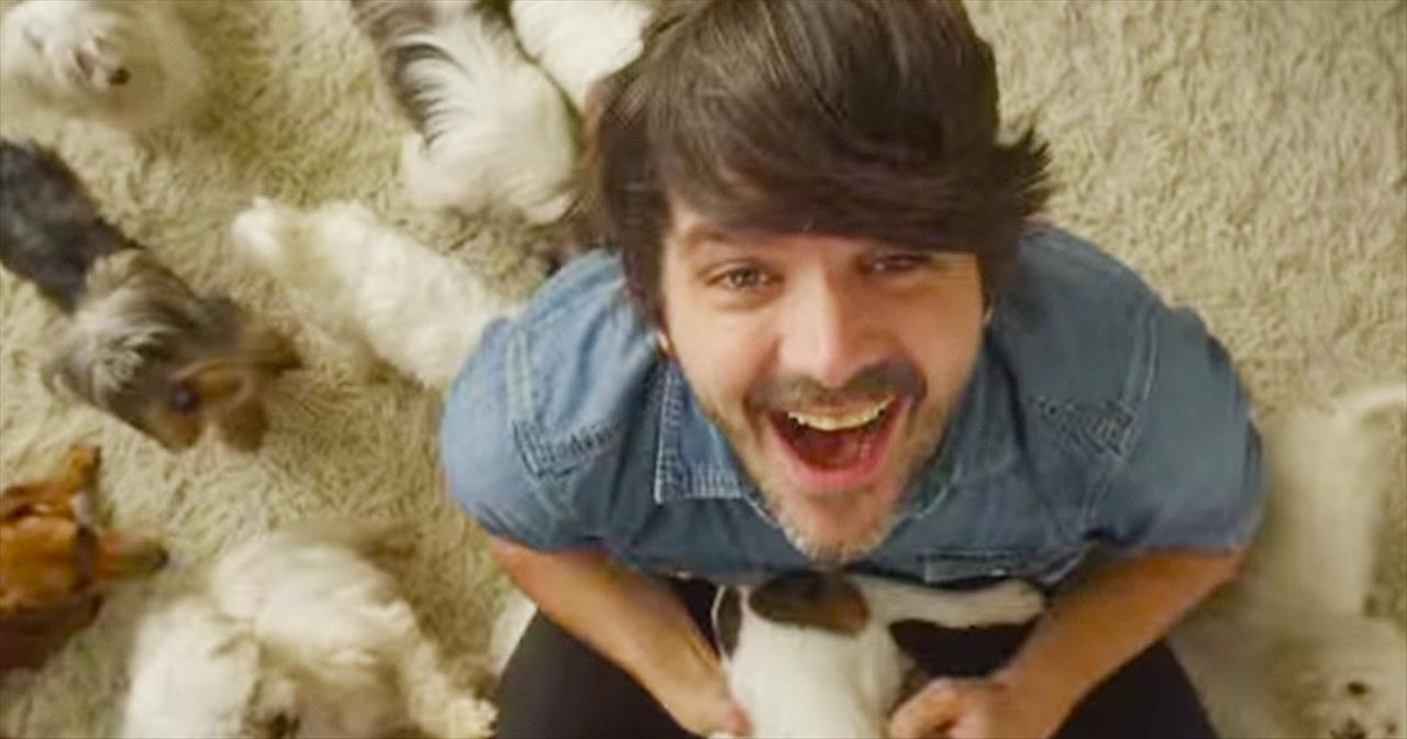 22 Puppies Help A Man Get Over Breakup In New Cary Brothers Music Video