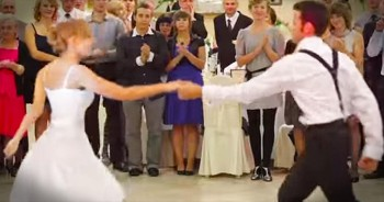 Bride And Groom Surprise Guests With AMAZING Swing Dance