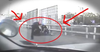 Suicidal Man Is Saved By Policeman Just In Time