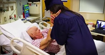 You Will Be In Tears When This Granddaughter Surprises Her Sick Granny At The Hospital